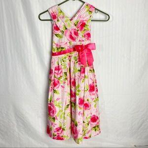 Bonnie Jean Easter Dress Floral Girl Sz 10